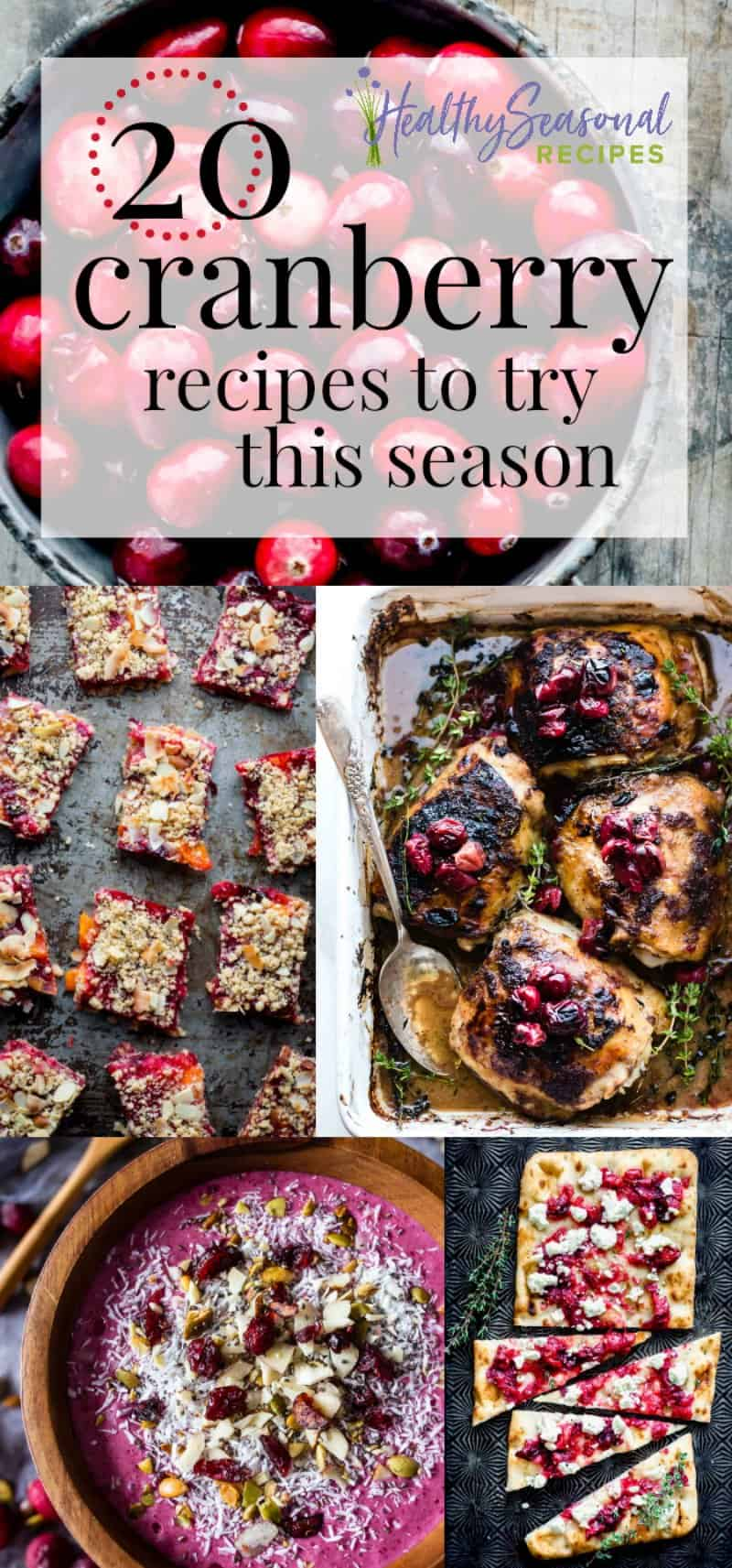 20 Cranberry Recipes to try this Season, plus tips on how to buy cranberries, how to store them and how to cook with fresh cranberries. #cranberries