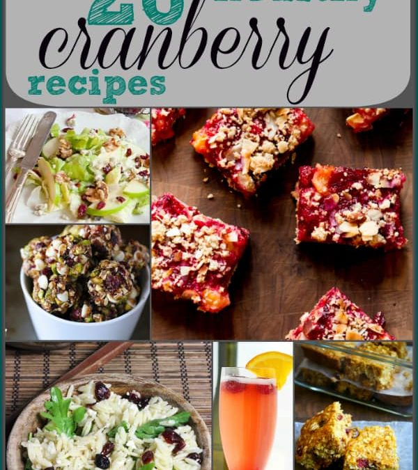 20 healthy cranberry recipes