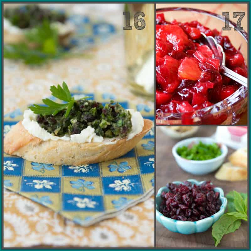 Cranberry Compote with Apple and Orange and Cranberry Pesto Crostini plus 20 recipes with Cranberries, Healthy Savory and Sweet ideas   @healthyseasonal