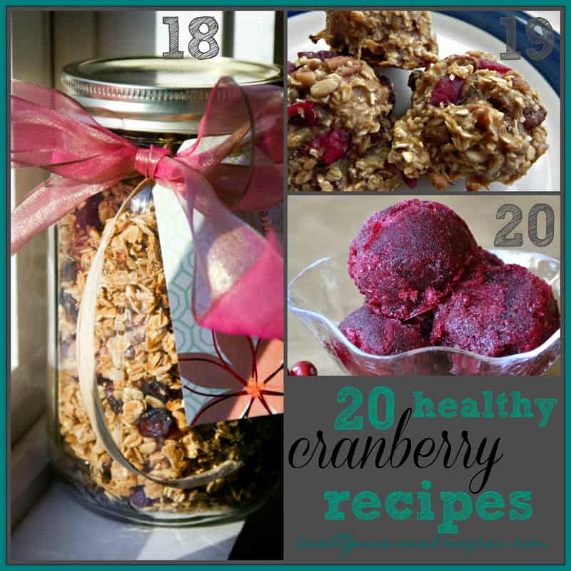 20 Healthy Cranberry Recipes via @healthyseasonal granola, sorbet and breakfast cookies