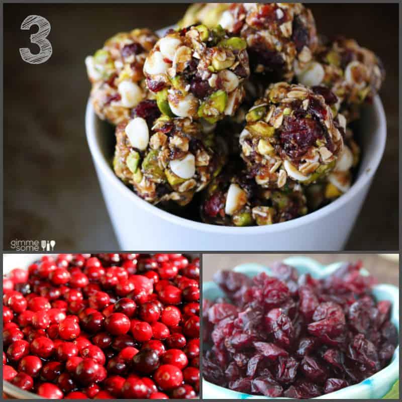 cranberry pistacio energy bites and 20 healthy cranberry recipes   Healthy Seasonal Recipes @healthyseasonal