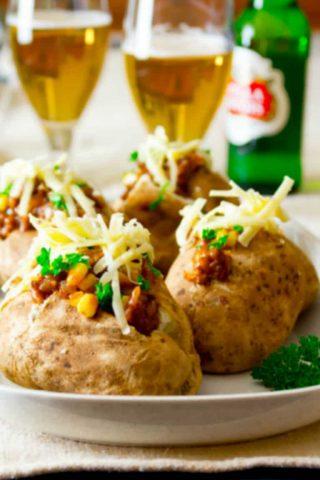 Shepherd's Pie Loaded Baked Potatoes | Beef | Comfort Food | Fall | Kid Friendly | Dinner | Winter | Healthy Seasonal Recipes