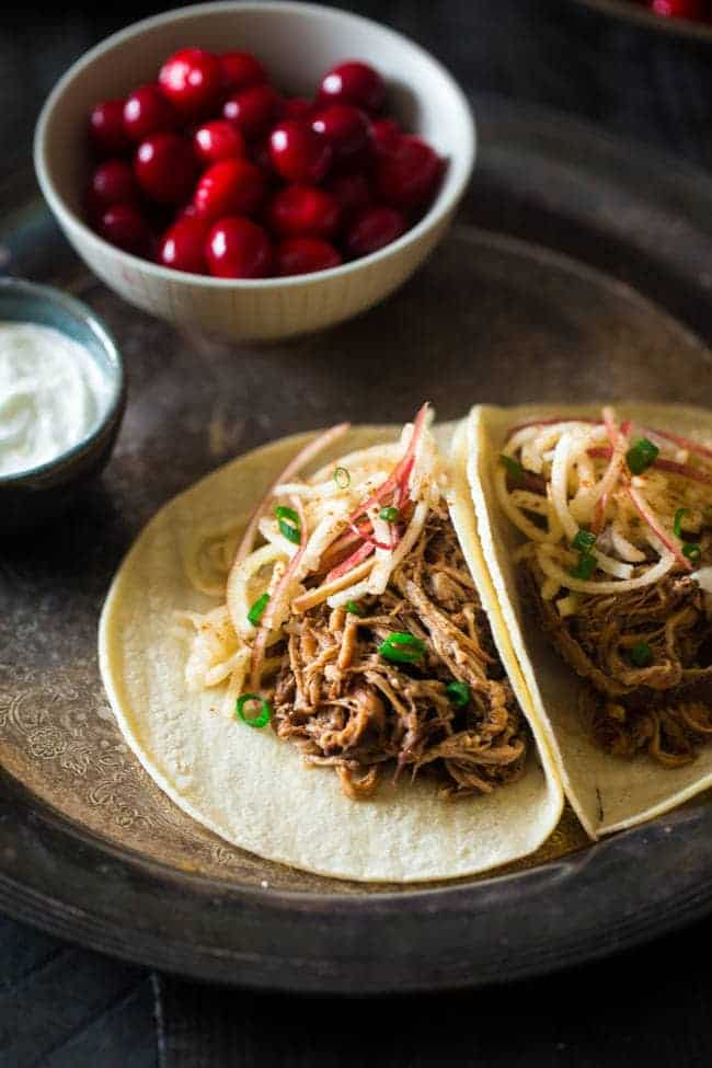 tacos with pulled pork