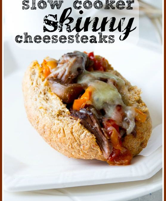slow cooker skinny cheesesteaks