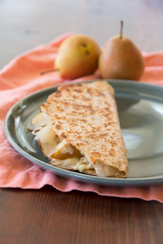 Turkey Reuben Quesadillas with Pear |Healthy Seasonal Recipes @healthyseasonal