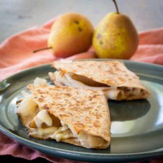 Turkey Reuben Quesadillas with Pear | Healthy Seasonal Recipes @healthyseasonal