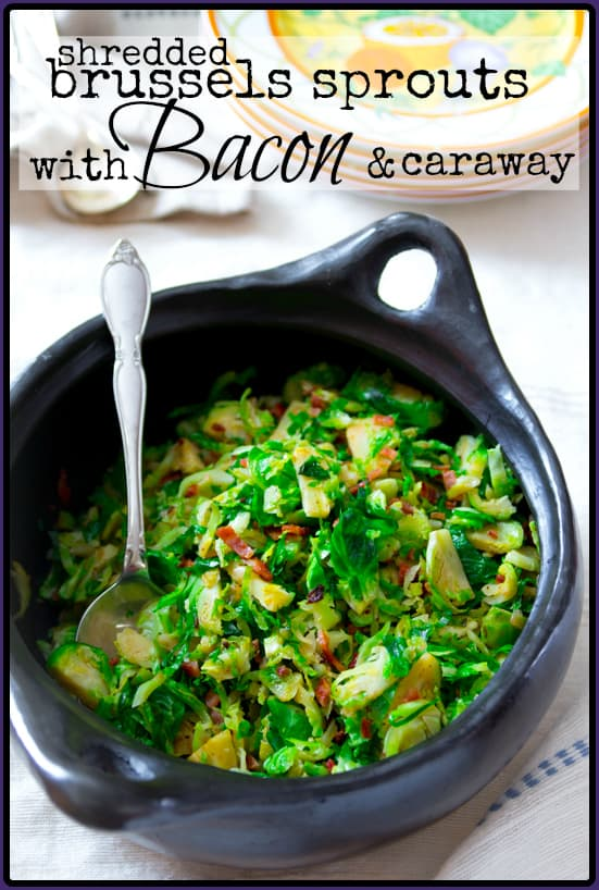 brussels-with-bacon and caraway | Healthy Seasonal Recipes