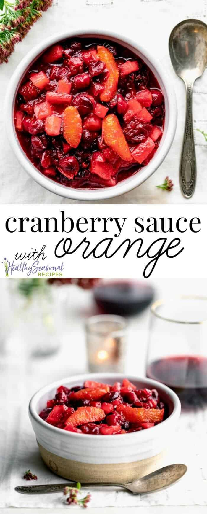 cranberry sauce with orange