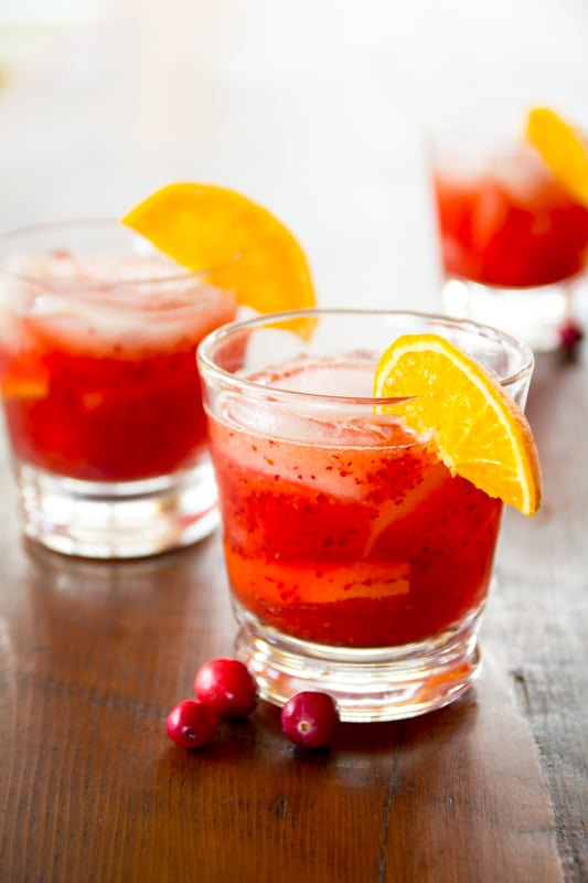 Cranberry Negroni Recipe on Healthy Seasonal Recipes by Katie Webster