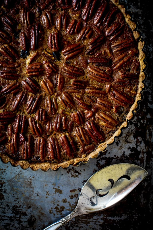 Healthy Thanksgiving recipe Dried Cherry and Pecan Tart recipe from @healthyseasonal Healthy Seasonal Recipes