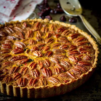 Pecan Pie gets a healthy make-over. Whole-grain nut crust, sweetened ...