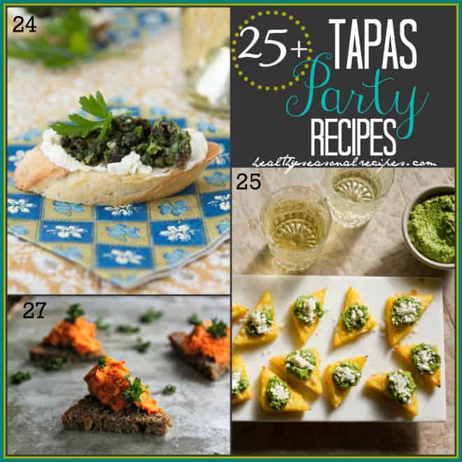 25-Tapas-Party-Recipes-24-27   cranberry pesto crostini, polenta with green harissa, red pepper hummus triangles   Healthy Seasonal Recipes