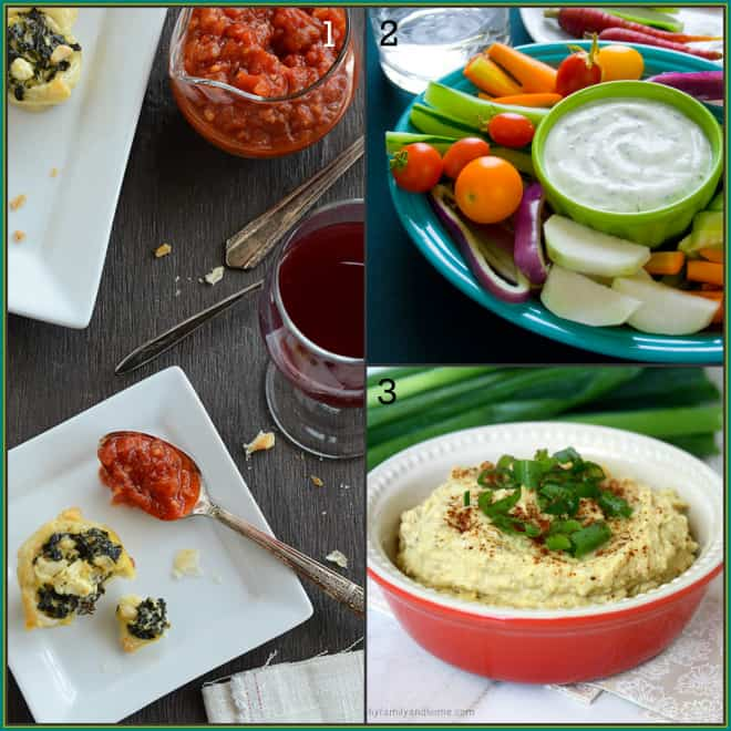 25-tapas-recipes on Healthy Seasonal Recipes | healthy Spanakopita, low fat ranch dip, healthy artichoke dip