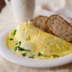 Healthy Cheese and greens omelet. 25 grams of protein | Healthy Seasonal Recipes