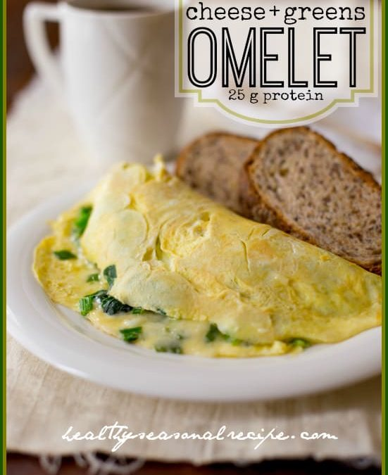 cheese and greens omelet