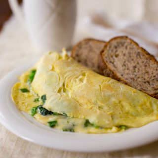 cheese and greens omelet, 25 grams of protein. Healthy Seasonal Recipes @healthyseasonal #protein