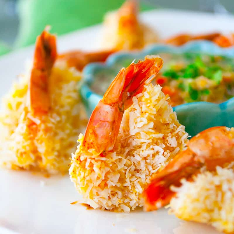 coconut shrimp with mineola salad from Healthy Seasonal Recipes