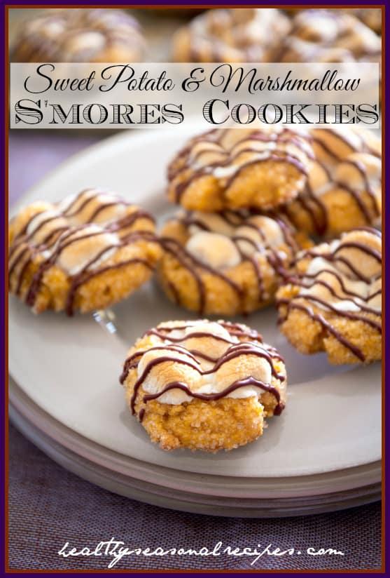 sweet-potato-marshmallow-smores-cookies via @healthyseasonal