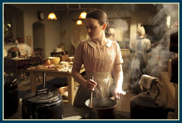 Downton Abbey Kitchen Photo via: Carnival Film & Television Limited 2011 for MASTERPIECE