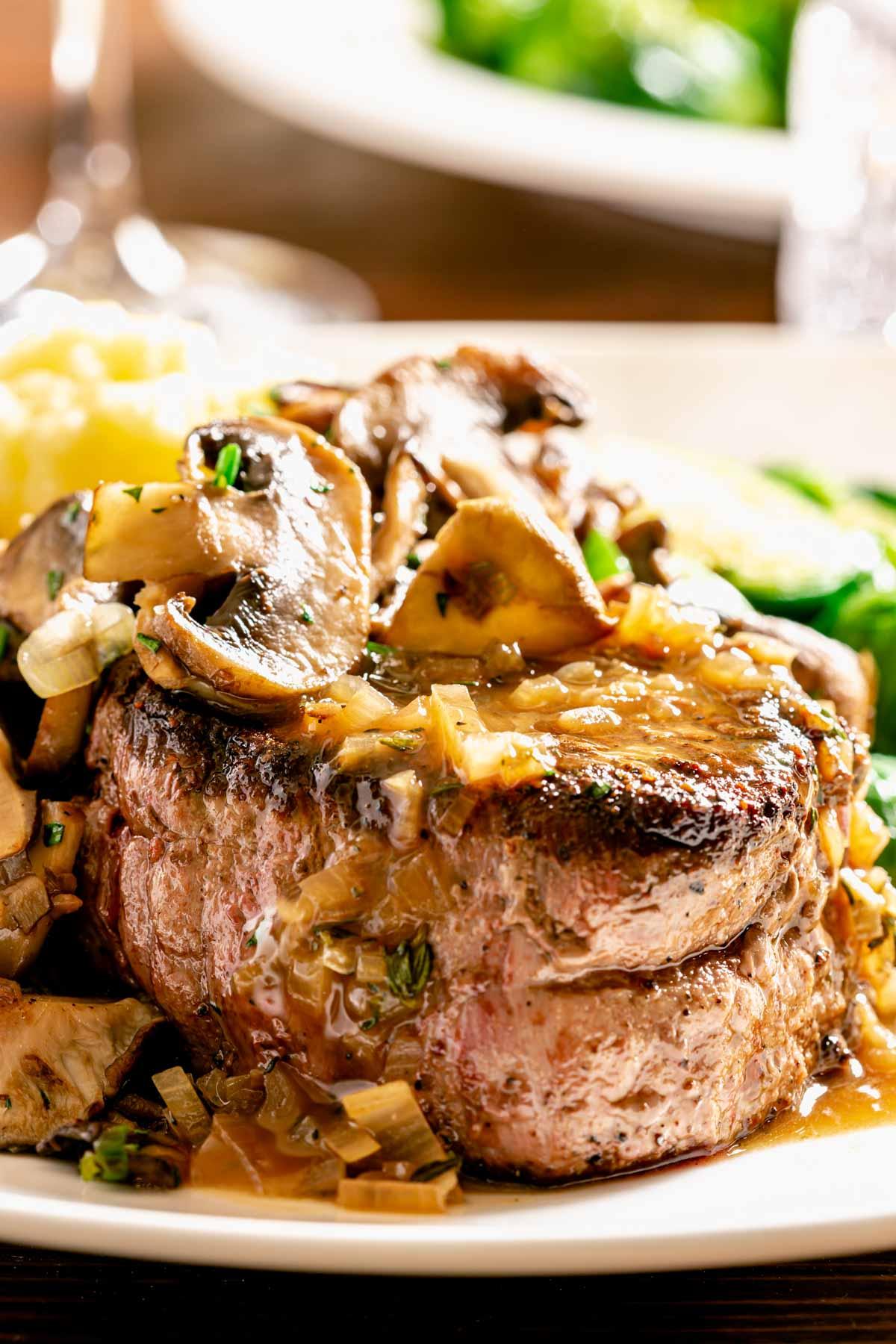 close up of tenderloin steaks
