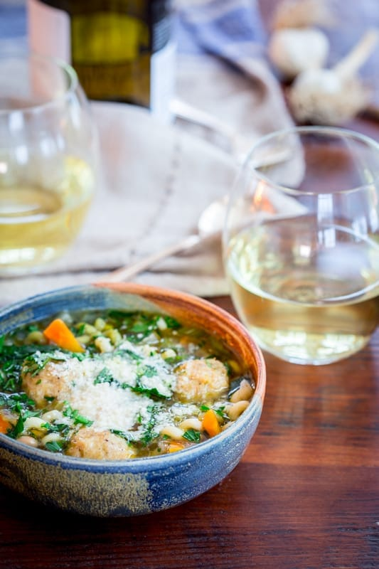 chicken noodle italian wedding soup