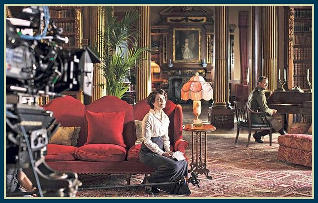 Downton Abbey interior, Lord and Lady Grantham | image via www.telegraph.co.uk