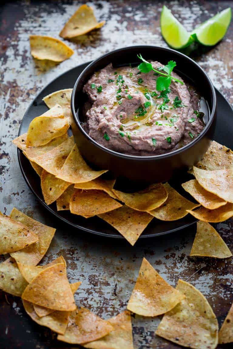 Black Bean Hummus - Food Photography Tips for Bloggers