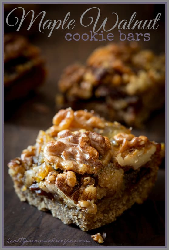 Maple Walnut Cookie Bars and Are Natural Sweeteners Healthier than refined sugars | Healthy Seasonal Recipes