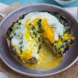 Gluten Free Quinoa-stuffed Breakfast-mushrooms | Healthy Seasonal Recipes