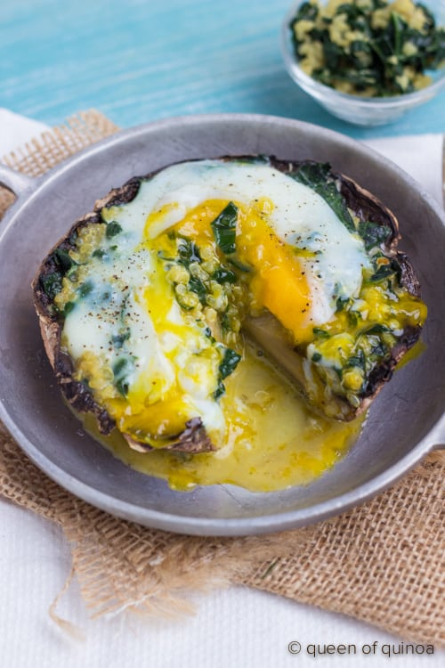 stuffed portobello breakfast mushrooms – guest post