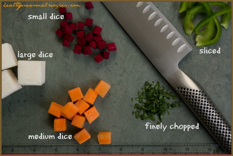 knife skills - what does a dice look like