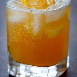 Maple lemon whiskey sour recipe