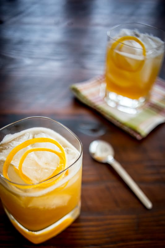 maple meyer lemon sour mix for whiskey sour cocktail | from scratch