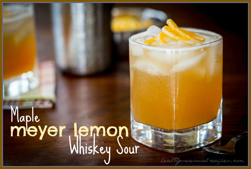 maple meyer lemon whiskey sour