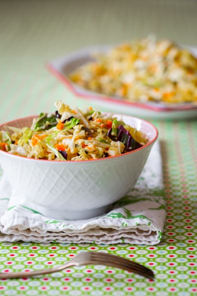 Sesame Coleslaw with Cabbage and Carrot