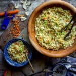 I promise this Sesame Coleslaw will be your go-to salad this Summer. You can whip it up in just 15 minutes and the super yummy Asian flavored dressing turns the crunchy cabbage and carrots into a mouth-watering bite. Not to mention it is Vegan, Paleo and Gluten-Free! | Healthy Seasonal Recipes | Katie Webster