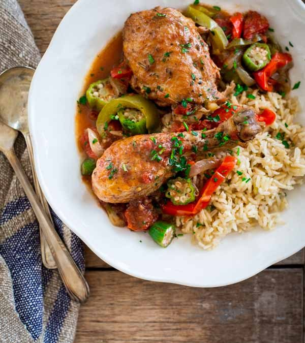slow-cooker chicken and okra