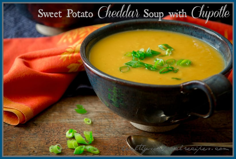 sweet potato cheddar soup with chipotle | Healthy Seasonal Recipes