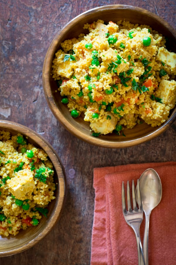 curried-cous-cous-with-roasted-red-pepper-peas-and-tofu