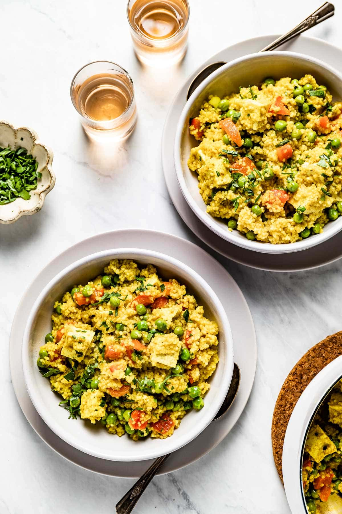 bowls of the couscous