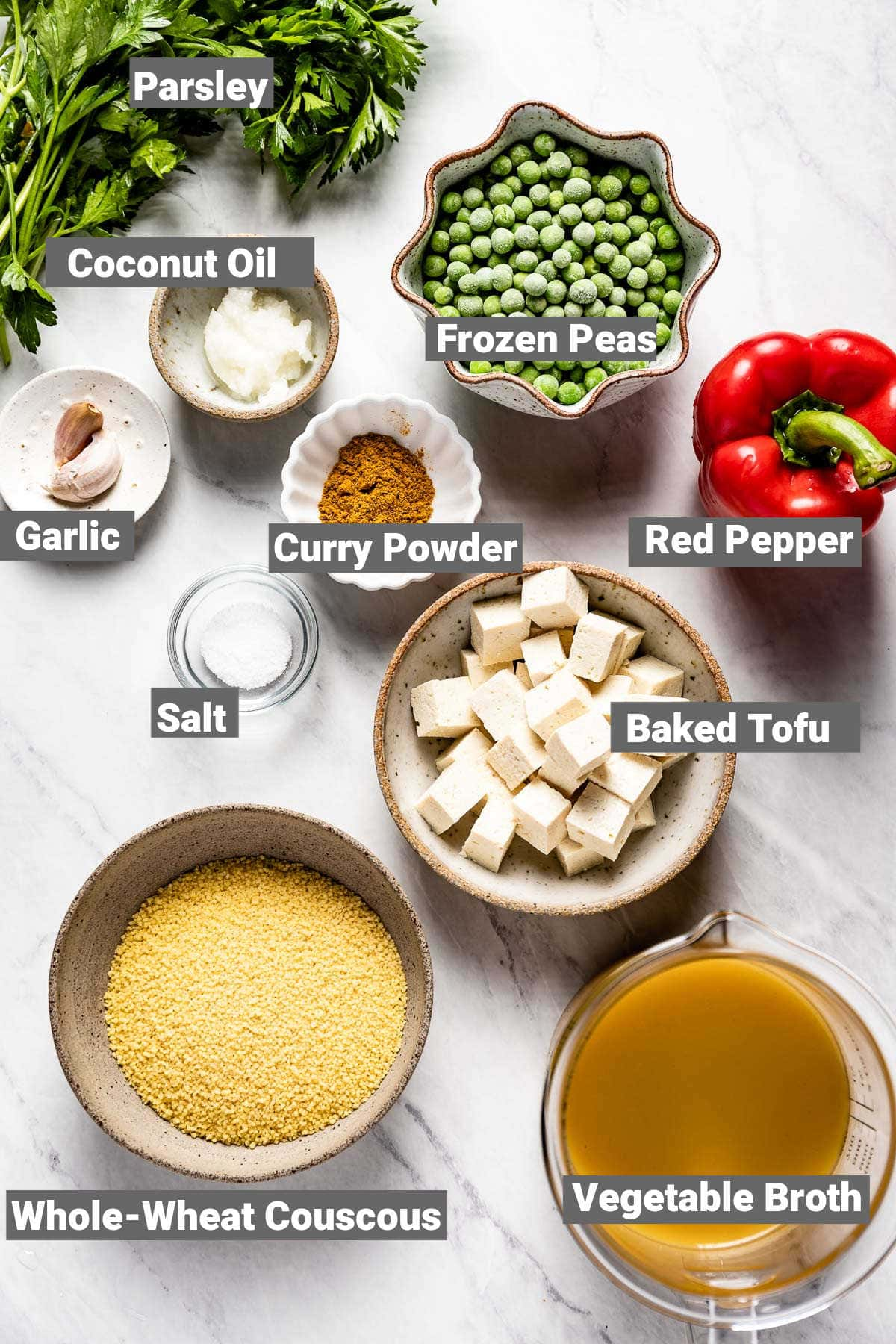 ingredients for this recipe with text overlay