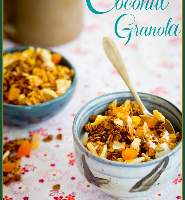 gluten free coconut granola {and a giveaway}