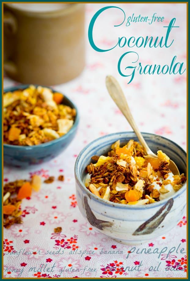 Healthy Gluten-free coconut granola recipe