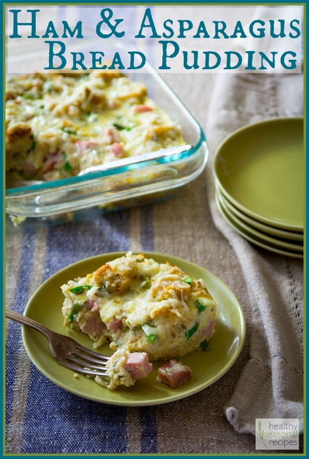 Ham and Asparagus Bread Pudding