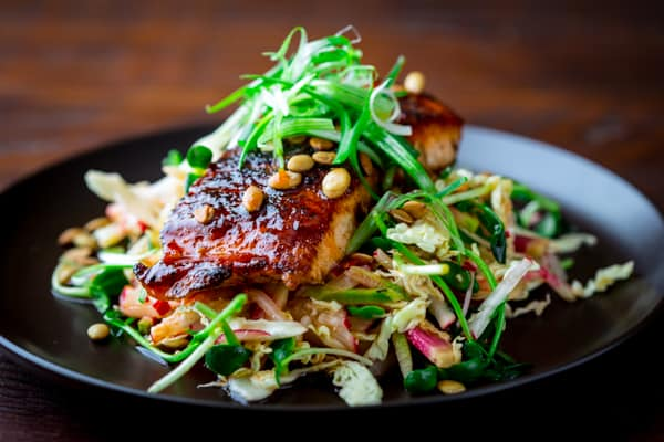 Hot and Sweet Slaw with Jerk Spice Salmon
