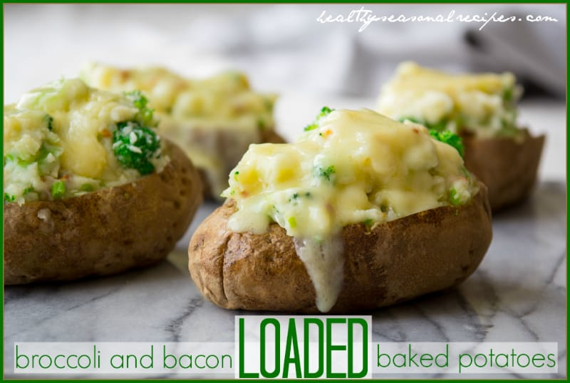 Loaded Baked Potatoes with Cheddar and Bacon