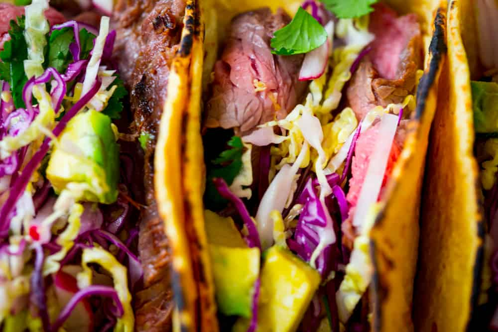 Maple Chipotle Flank Steak Tacos #maplelinkparty
