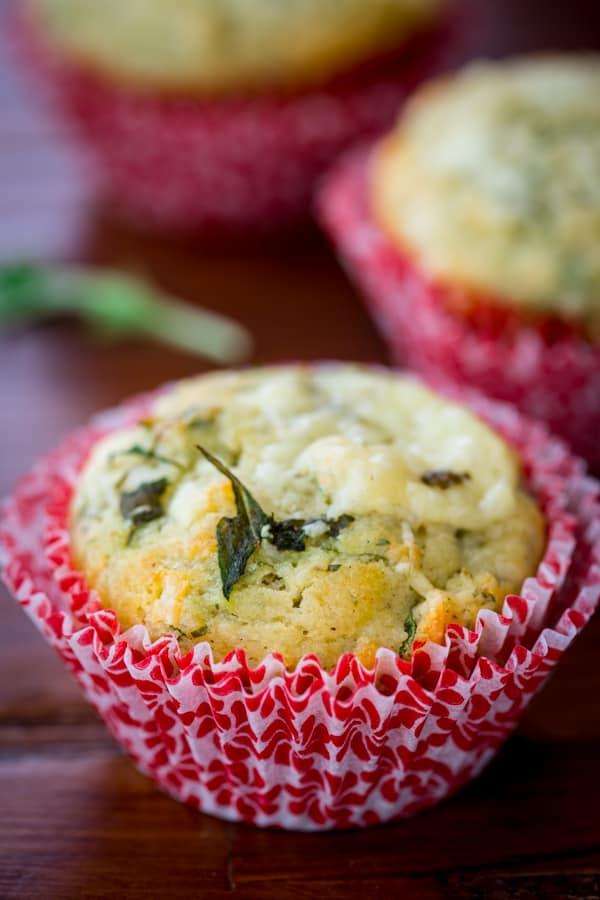 gluten free arugula cheddar muffins
