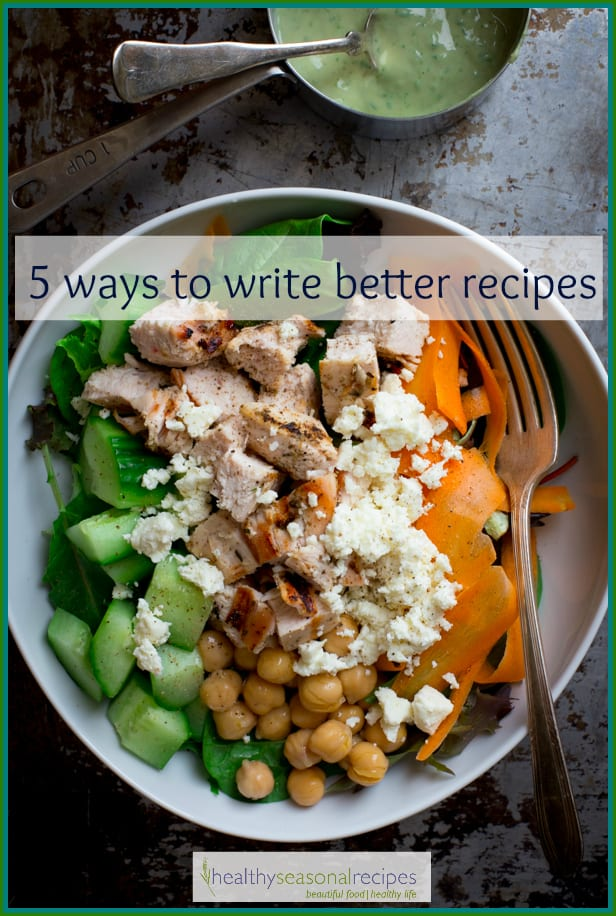 5 ways to write better recipes