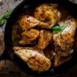 Spatchcocked Skillet Roasted Chicken with Tarragon | Wheat Free | Gluten Free | Low Carb | Fall | Healthy Seasonal Recipes